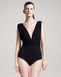 Lanvin - Plunging One-piece Swimsuit - Lyst