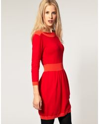 ASOS Collection Asos Knitted Dress with Boat Neck - Lyst