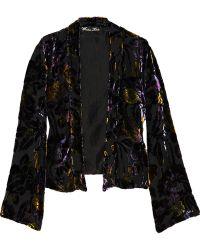 Winter Kate - Purple Jade Silk Burnout Velvet Jacket - Lyst