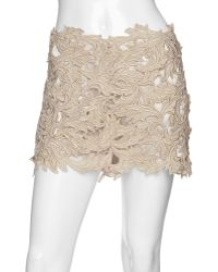 M & Guia Exclusive Metallic Lace Skirt - Lyst