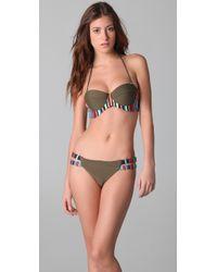 Mara Hoffman Embroidered Bustier Bikini - Lyst