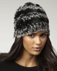 Marc By Marc Jacobs - Hayworth Striped Fur Hat - Lyst