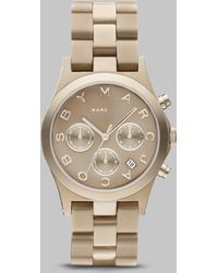 Marc By Marc Jacobs Gold Ion-plated Chronograph Watch - Lyst