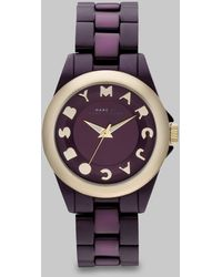 Marc By Marc Jacobs Logo Embellished Watch/Purple - Lyst