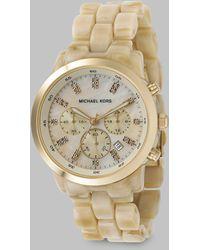 Michael Kors Acrylic Chronograph Watch - Lyst