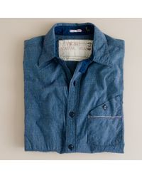J.Crew Mister Freedom® Utility Chambray Workshirt - Lyst