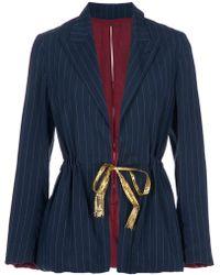 Jean Paul Gaultier Pin Stripe Blazer - Lyst