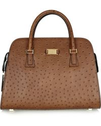 Michael Kors Gia Ostrich-Effect Leather Tote - Lyst