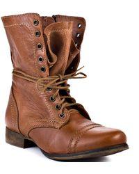 Steve Madden Troopa - Tan Leather - Lyst