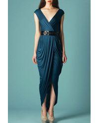 Doo. Ri Long V-neck Dress  - Lyst