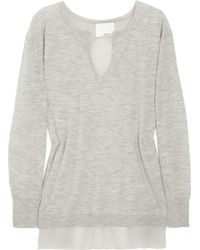 3.1 Phillip Lim Split-back Wool and Cashmere-blend Sweater - Lyst