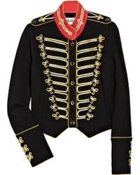 Alice By Temperley - Game Structured-jersey Military Jacket - Lyst
