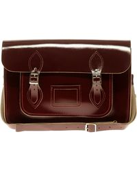 Cambridge Satchel Company Exclsuive To Asos Oxblood Patent Satchel red - Lyst