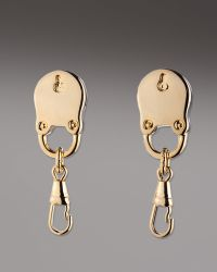 Eddie Borgo Padlock Stud Earrings gold - Lyst