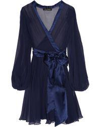 Jenny Packham - Silk-chiffon Wrap Robe - Lyst