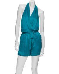 Robert Rodriguez Exclusive Halter V Neck Short Jumpsuit - Lyst