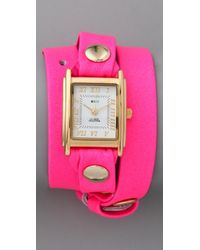 La Mer Collections Neon Simple Wrap Watch - Lyst