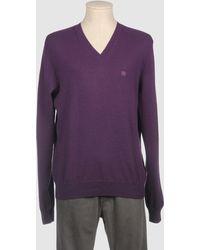 Aquascutum Purple Cashmere Sweaters - Lyst