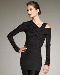 Donna Karan New York Jersey Neck Long-sleeve Top - Lyst