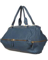 Topshop Diamond Leather Holdall Bag - Lyst