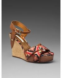 Twelfth Street Cynthia Vincent Naomi Wedge with Crossfront Detail - Lyst