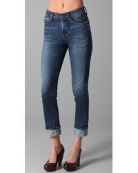 Citizens of Humanity Mandy Skinny Roll Up Jeans - Lyst