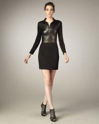 Graham & Spencer - Leather/ponte Combo Dress - Lyst