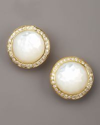 Ippolita Mother Of Pearl Diamond Earrings - Lyst