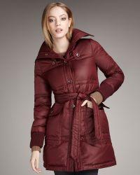 Marc By Marc Jacobs Kent Puffer Coat, Carmine - Lyst