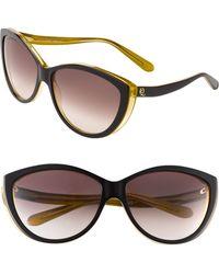 Alexander McQueen Twotone Plastic Catseye Sunglasses black - Lyst