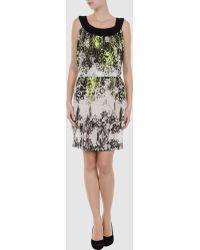 Almeria Frills Sleeveless Dark Blue Short Dress - Lyst