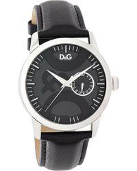 Dolce & Gabbana | Twin Tip Leather Strap Watch | Lyst