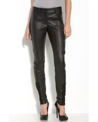 Leith Leather Moto Leggings - Lyst