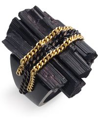 Liz Larios Jewelry Tourmaline & Chain Ring - Lyst