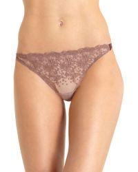 Nina Ricci Dotted Slip Thong purple - Lyst