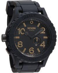 Nixon The 51-30 Rubber Strap Watch - Lyst