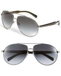 Prada Arrow Temple Metal Aviator Sunglasses - Lyst