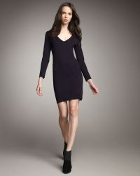 Theory Long-sleeve Fitted Dress - Lyst