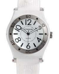 Titanium Analog Sports Watch  - Lyst