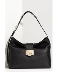 Jimmy Choo Black Leather Rachel Shoulder Bag - Lyst