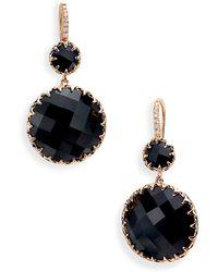 Ivanka Trump Rose Gold Stone & Diamond Earrings - Lyst
