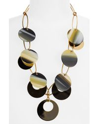 Tory Burch Resin Circle Statement Necklace - Lyst