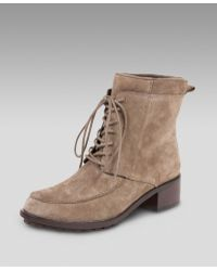 Elizabeth and James - Suede Lace-up Bootie - Lyst