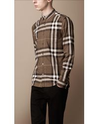 Burberry Brit Exploded Check Cotton Shirt - Lyst