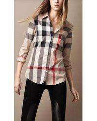 Burberry Brit Tonal Check Shirt - Lyst