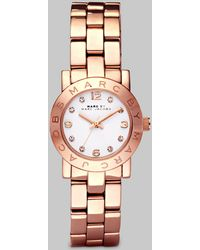 Marc By Marc Jacobs Amy Glitz Rose Goldtone Stainless Steel Bracelet Watch - Lyst