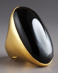 Stephanie Anne Empress Onyx Ring gold - Lyst