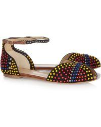 Vionnet - Embellished Suede Sandals - Lyst