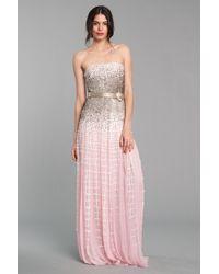 Oscar de la Renta Strapless Gown - Lyst