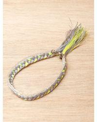 Alyssa Norton - Sterling Silver and Braided Silk Bracelet - Lyst